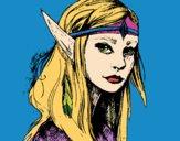 Dibujo Princesa elfo pintado por olgablanco