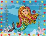 Dibujo Princesa sirena pintado por Anto05