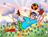 Dibujo Un portero de fútbol pintado por migueo2016