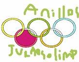 Dibujo Anillas de los juegos olimpícos pintado por rici