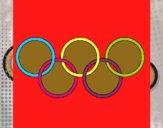 Dibujo Anillas de los juegos olimpícos pintado por ninovalen