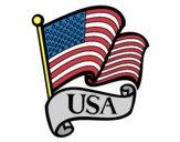 Dibujo Bandera de los Estados Unidos pintado por PUDDIN