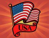 Dibujo Bandera de los Estados Unidos pintado por DRAWS