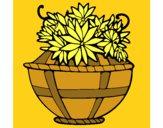 Dibujo Cesta de flores 11 pintado por Milaaa