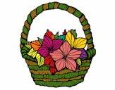 Dibujo Cesta de flores 2 pintado por nenita5