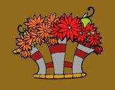 Dibujo Cesta de flores 7 pintado por carmennona