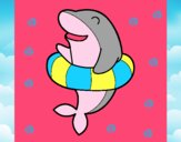 Dibujo Delfín con flotador pintado por ardi23