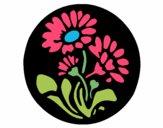 Grabado con flores