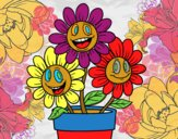 Dibujo Maceta de flores pintado por carmennona