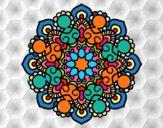 Dibujo Mandala reunión pintado por Rosario29