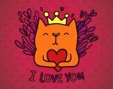 Dibujo Mensaje de Amor pintado por dominium