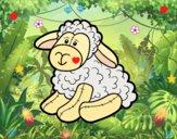 Dibujo Peluche oveja pintado por iriscabj