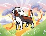 Dibujo Perro Beagle pintado por BerthitaDZ