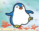 Dibujo Pingüino bailando pintado por karen357