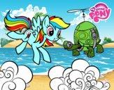Rainbow Dash y la tortuga tanque