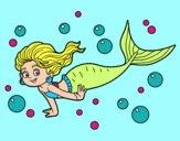 Dibujo Sirena del mar pintado por lunamaria