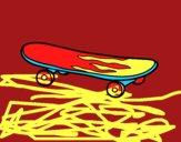 Dibujo Skate pintado por jackgamer2