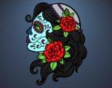 Dibujo Tatuaje de Catrina pintado por perlitamm