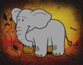 Dibujo Un elefante africano pintado por carmennona