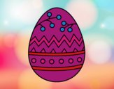 Dibujo Un huevo de Pascua pintado por dominium