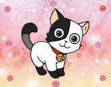 Dibujo Gato doméstico pintado por karyvan