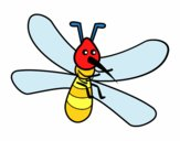 Mosquito con grandes alas