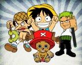 Dibujo Personajes One Piece pintado por ponzoncito