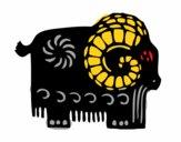 Dibujo Signo de la cabra pintado por dandanhooo
