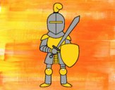 Dibujo Caballero con espada y escudo pintado por JuanMar3
