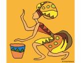 Mujer con tambor