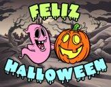Dibujo Feliz Halloween pintado por Lucia626