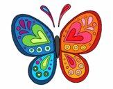 Dibujo Mandala mariposa pintado por johana2013