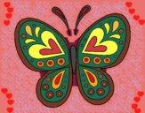 Dibujo Mandala mariposa pintado por CLAUEMI