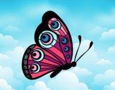 Mariposa dirección derecha