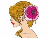 Tocado  de novia con flor