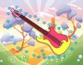 Una guitarra eléctrica
