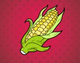 Dibujo Una mazorca de maíz pintado por Cristy62