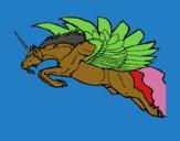 Dibujo Unicornio alado pintado por carlitoslo