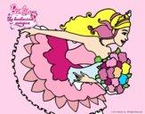 Dibujo Barbie en un saludo de agradecimiento pintado por kame01
