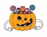 Calabaza de chuches de Halloween
