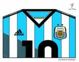 Dibujo Camiseta del mundial de fútbol 2014 de Argentina pintado por vito_lm9