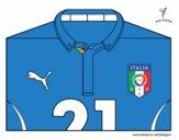 Dibujo Camiseta del mundial de fútbol 2014 de Italia pintado por vito_lm9