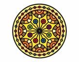 Dibujo Mandala equilibrio mental pintado por Steffanyy