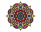 Dibujo Mandala ojos abiertos pintado por Steffanyy