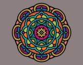 Dibujo Mandala para la relajación mental pintado por Rosario29
