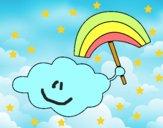 Dibujo Nube con arcoiris pintado por Lucia626