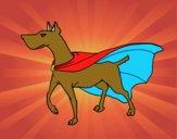 Dibujo Perro superhéroe pintado por mariaynico