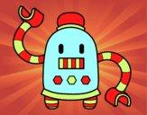 Dibujo Robot con largos brazos pintado por Lucia626