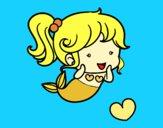 Dibujo Sirena chibi pintado por dandanhooo