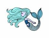 Dibujo Sirena flotando pintado por dandanhooo